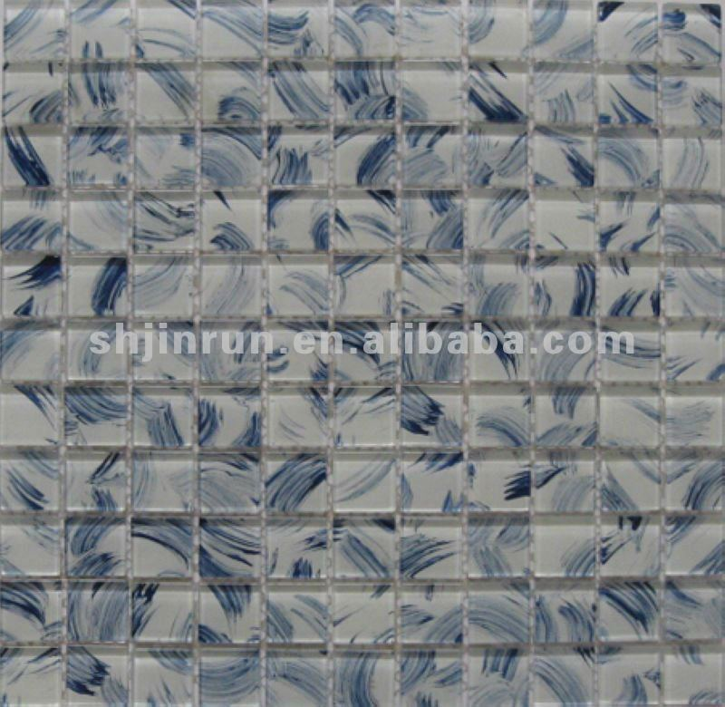 Wallpaper mosaic Backsplash mosaic tile View glass mosaic Jinrun 800x780