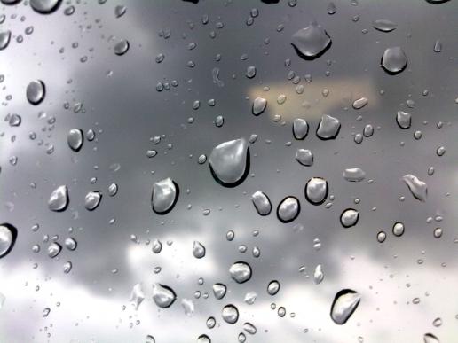 Silver raindrops iPad HD Wallpaper 516x387