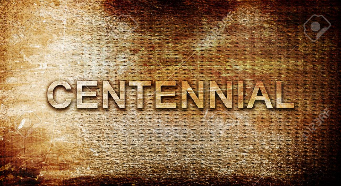 Centennial 3D Rendering Text On A Metal Background Stock Photo 1300x709