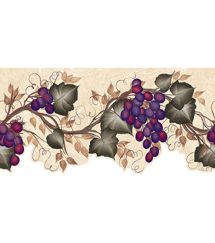 Ivy Grape Vine Die Cut Wallpaper Border Green Sample JOANN 1200x1360