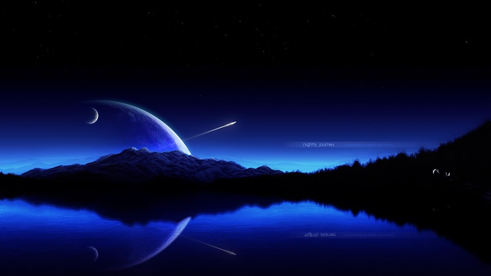 moon over water images wallpaper moon over water pics moon 1600x900
