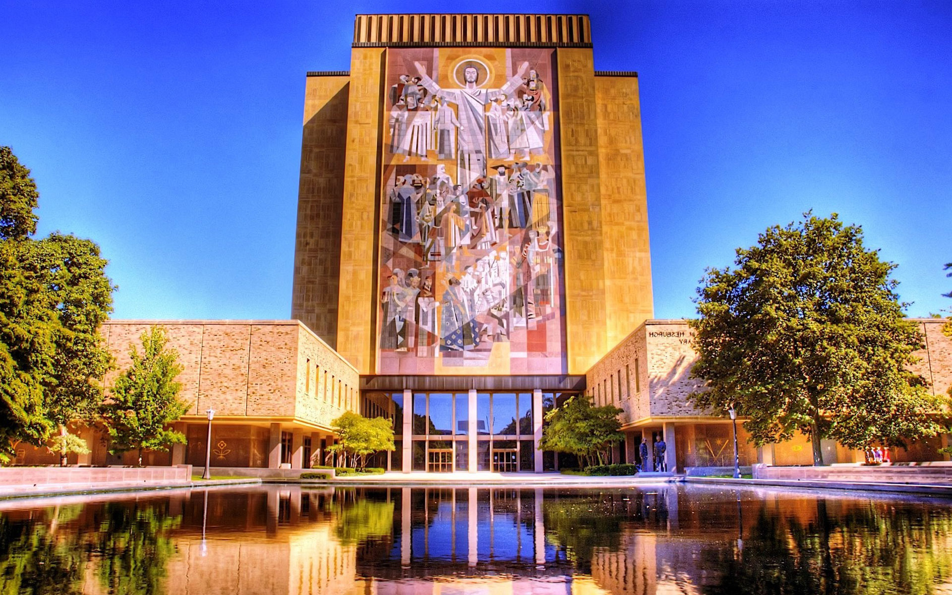 Download Theodore Hesburgh Library University of Notre Dame wallpaper 1920x1200
