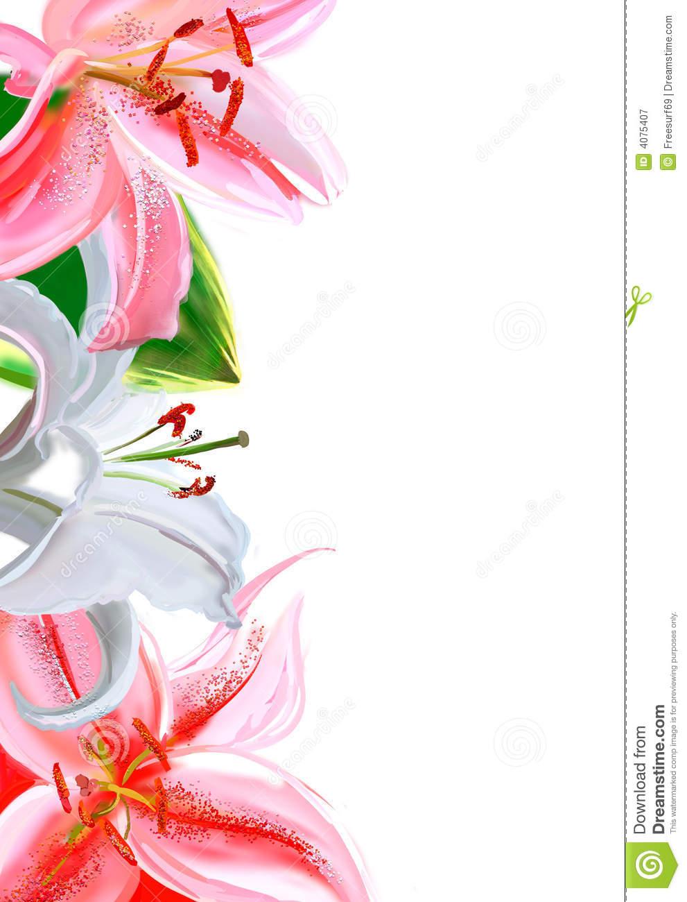 Download Easter Lily Border Clip Art 991x1300 47 Calla Lily