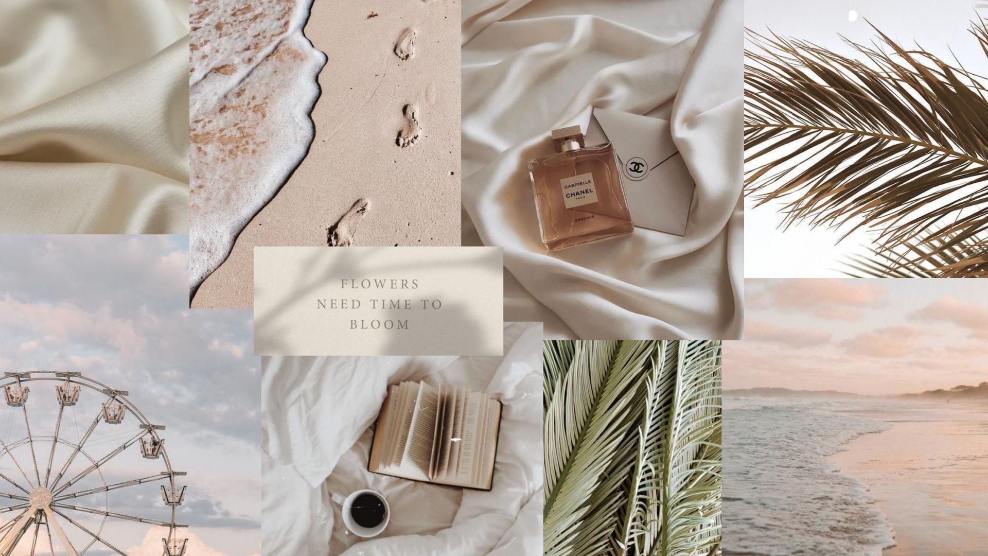 download minimalistic collage wallpaper Aesthetic desktop 1920x1080
