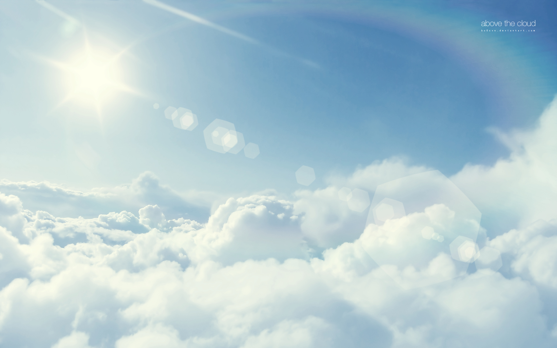 Above the clouds wallpaper Wallpaper Wide HD 1920x1200