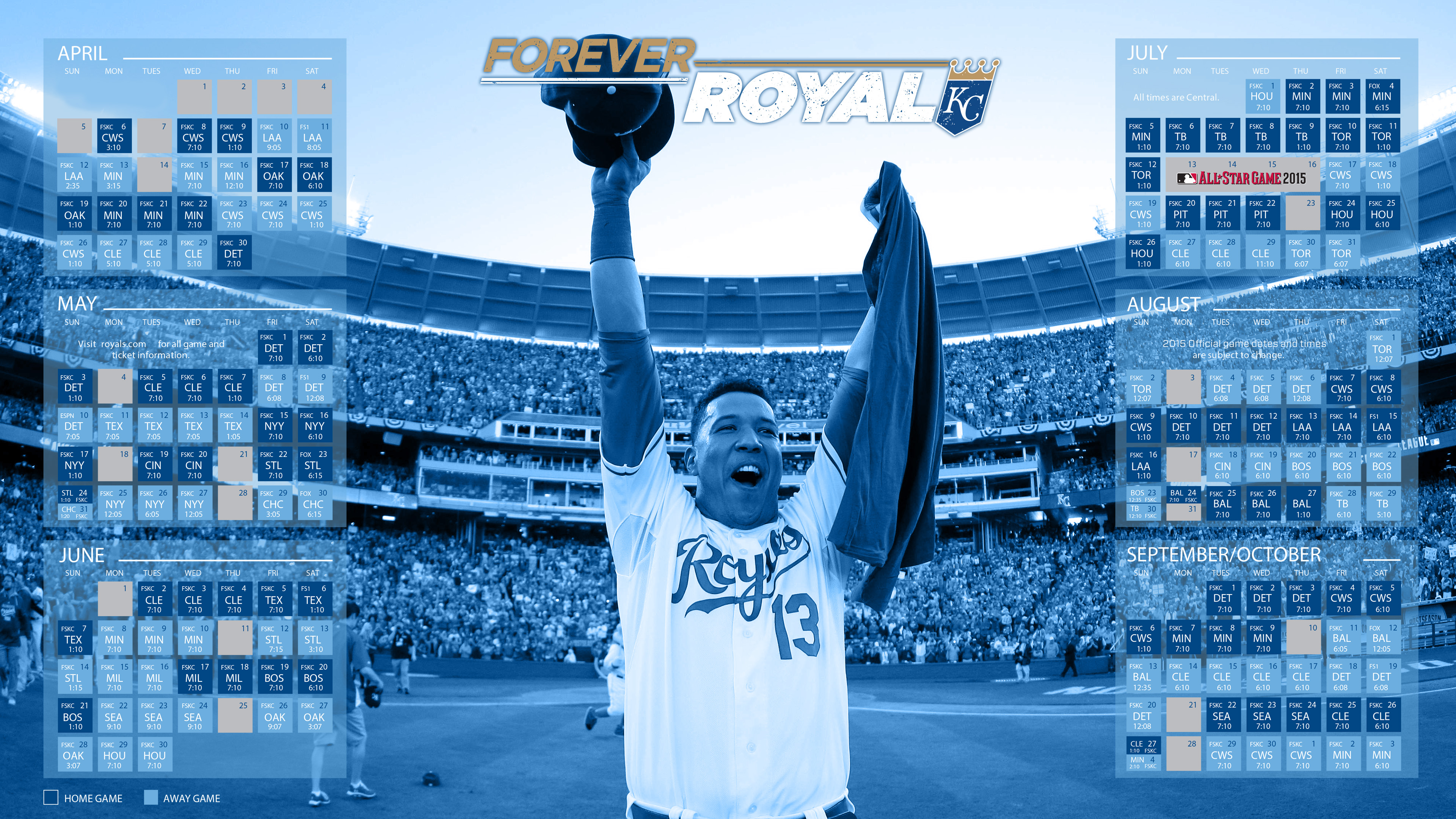 Kansas City Royals 2015 MLB Schedule 4K Wallpaper 3840x2160