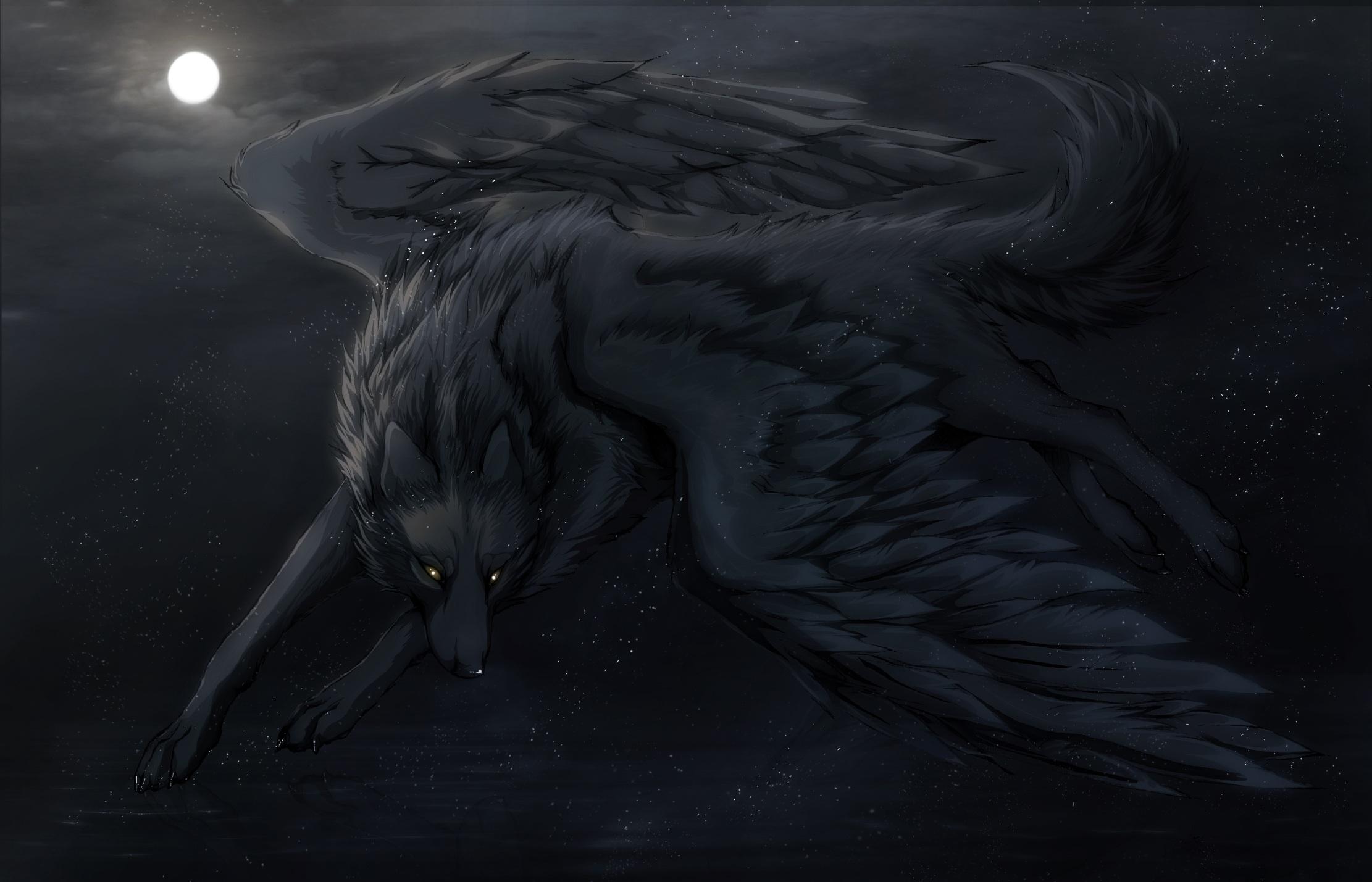 73+ Dark Wolf Wallpaper on WallpaperSafari