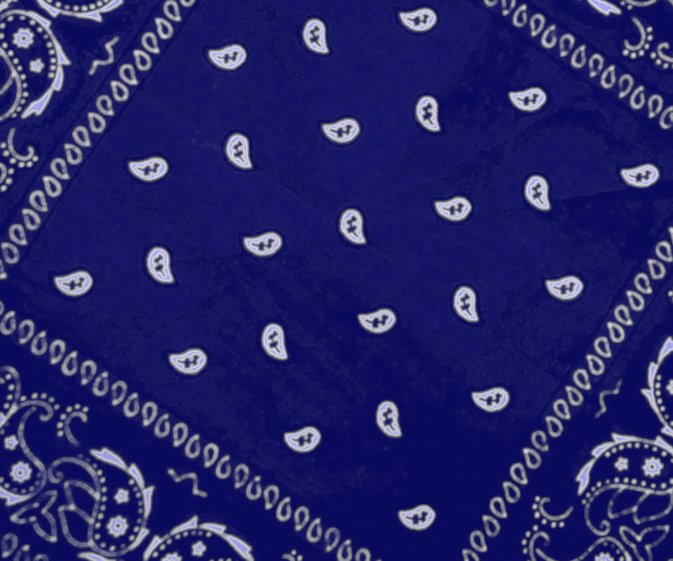 blue bandana wallpaper