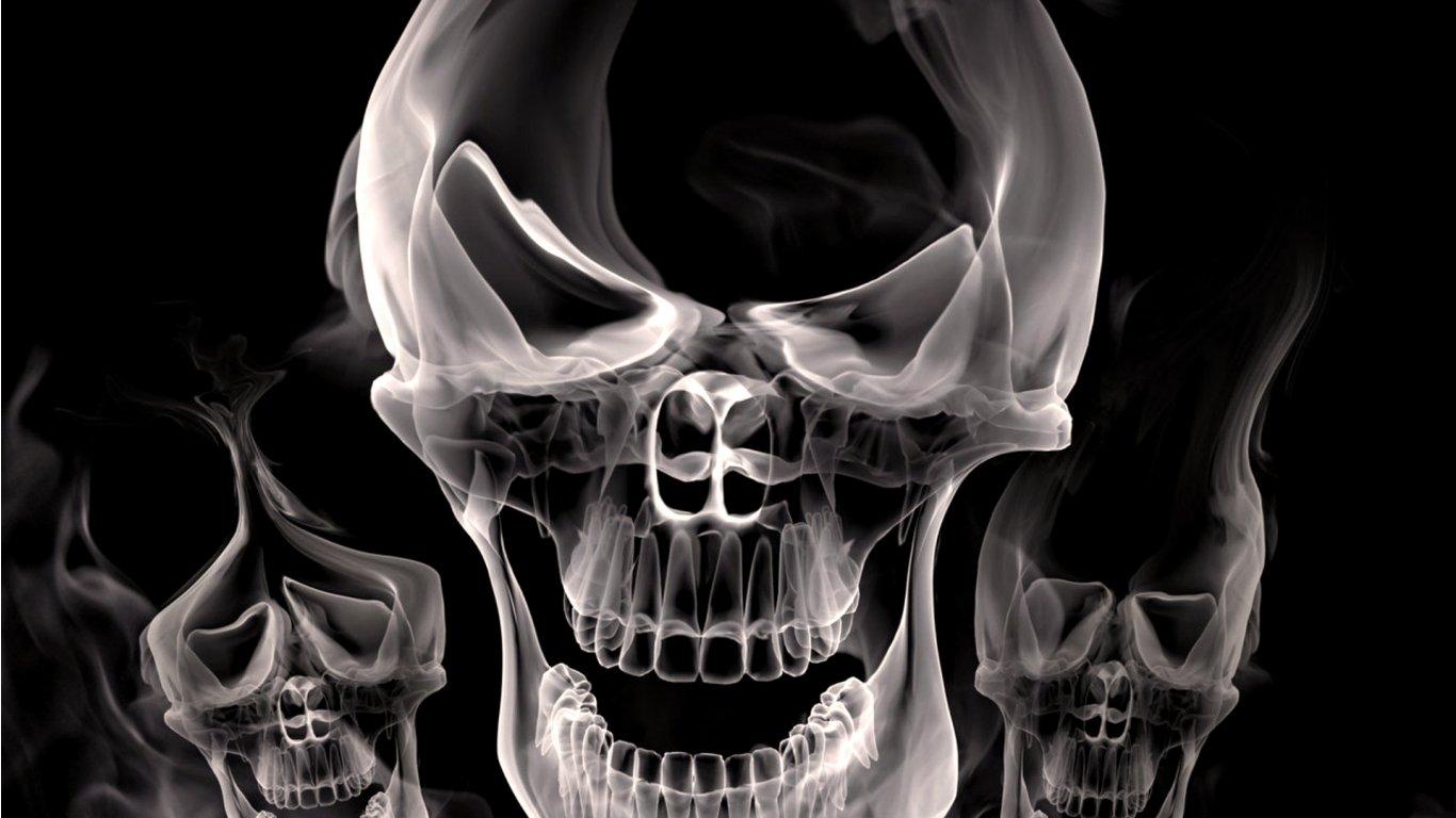 3D Skull Wallpaper Best Wallpaper 1366x768