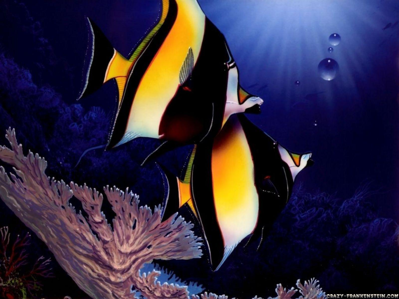 1600x1200 evil fish desktop - photo #16
