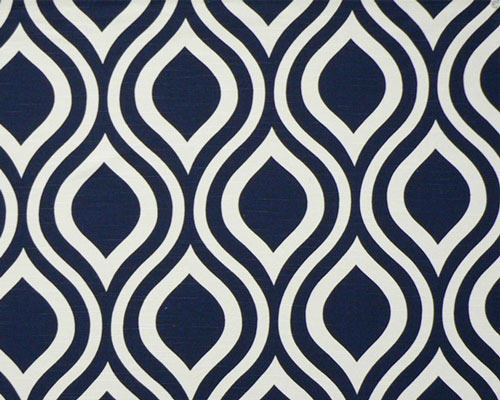 Navy Blue Pattern Fabric Decorating with navy blue 500x400