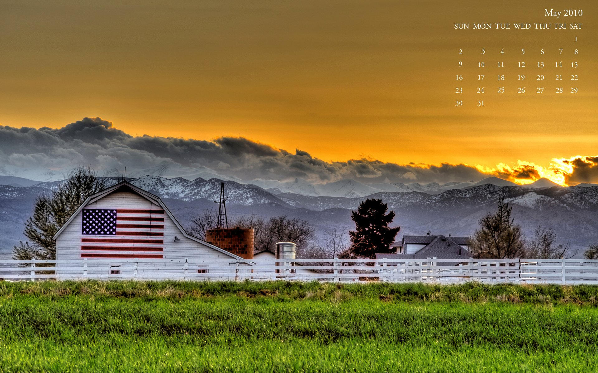 American Flag Barn wallpaper   138905 1920x1200