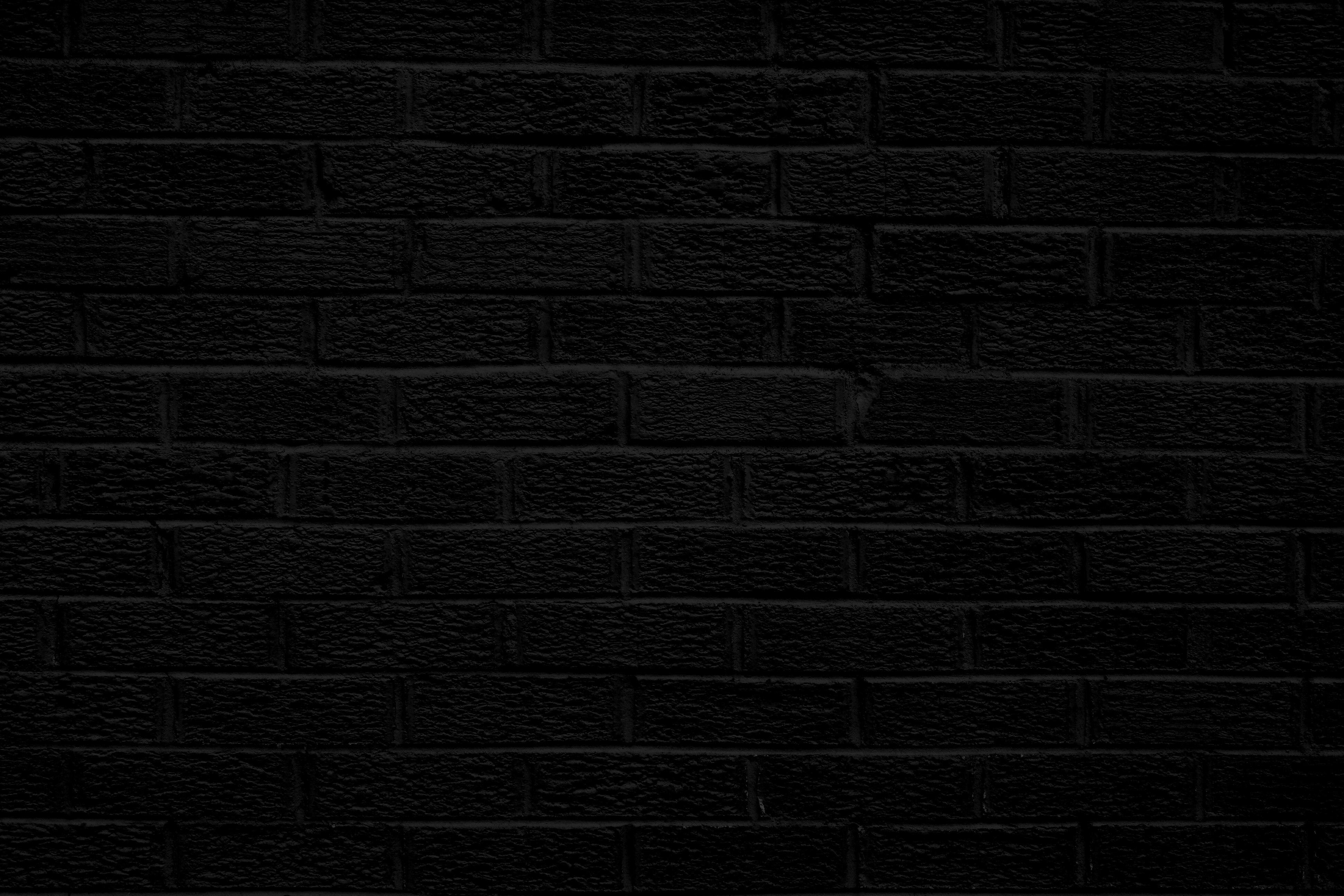 Black Brick Wall Texture Picture Photograph Photos Public 3888x2592