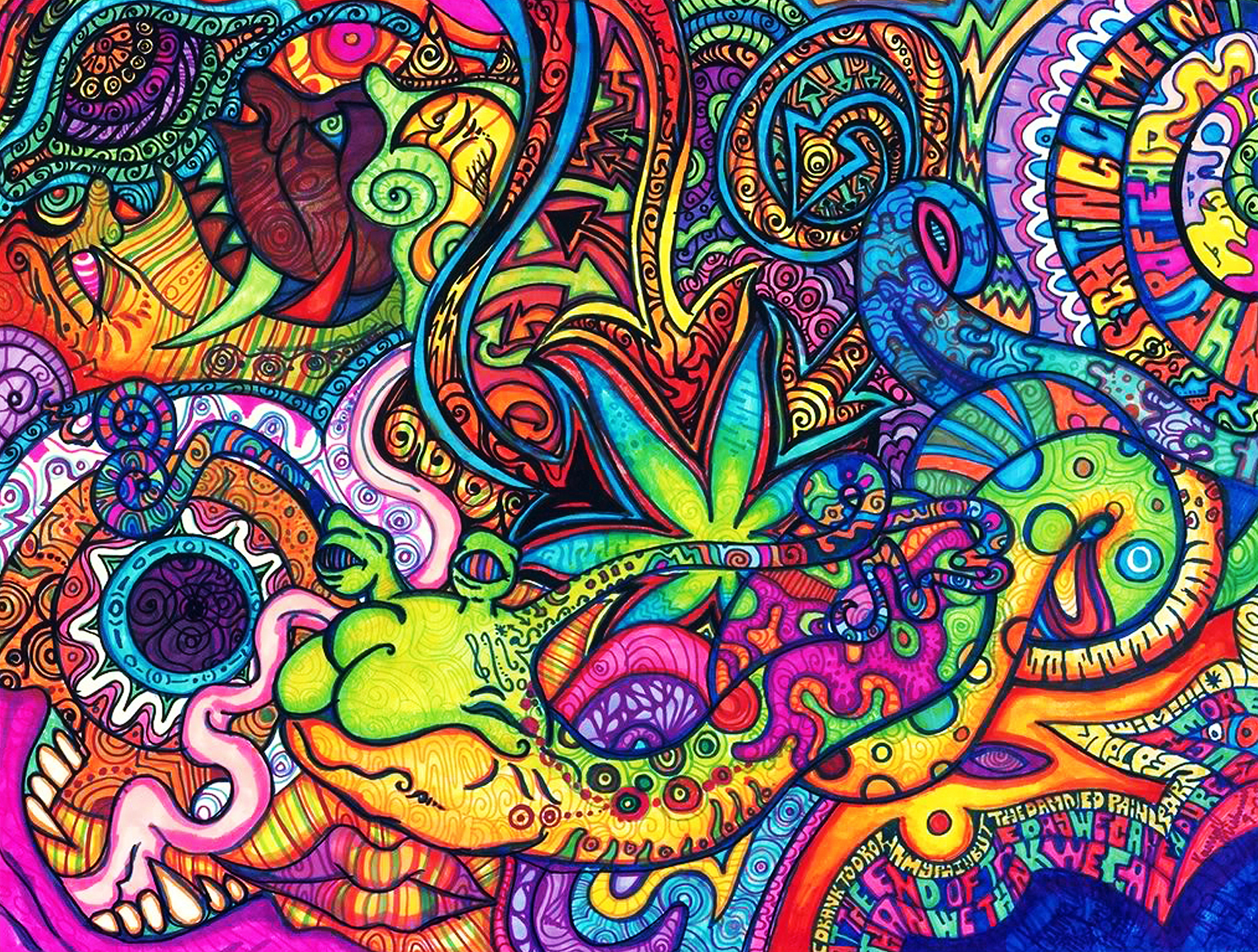 518 Psychedelic HD Wallpapers Background Images 1900x1439