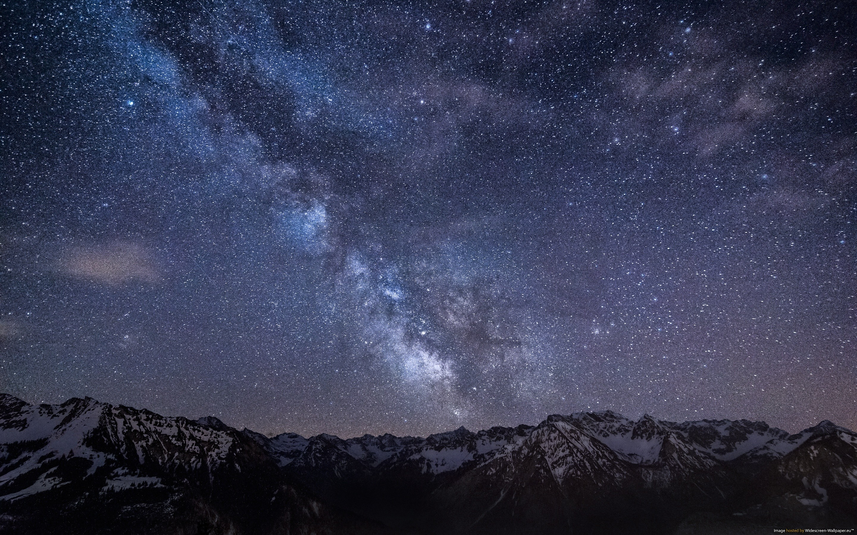 Mountains At Night Stars wallpaper   1012921 2880x1800