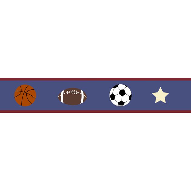 Discontinued Play Ball Sports Wallpaper Border 630x630