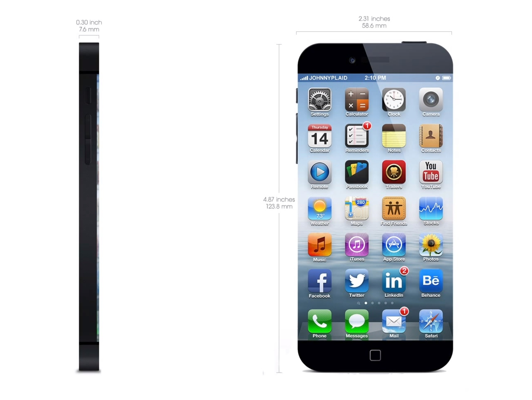FAYAN SALES iPhone 6 Concept Edge to Edge Display Smart Home 1721x1295
