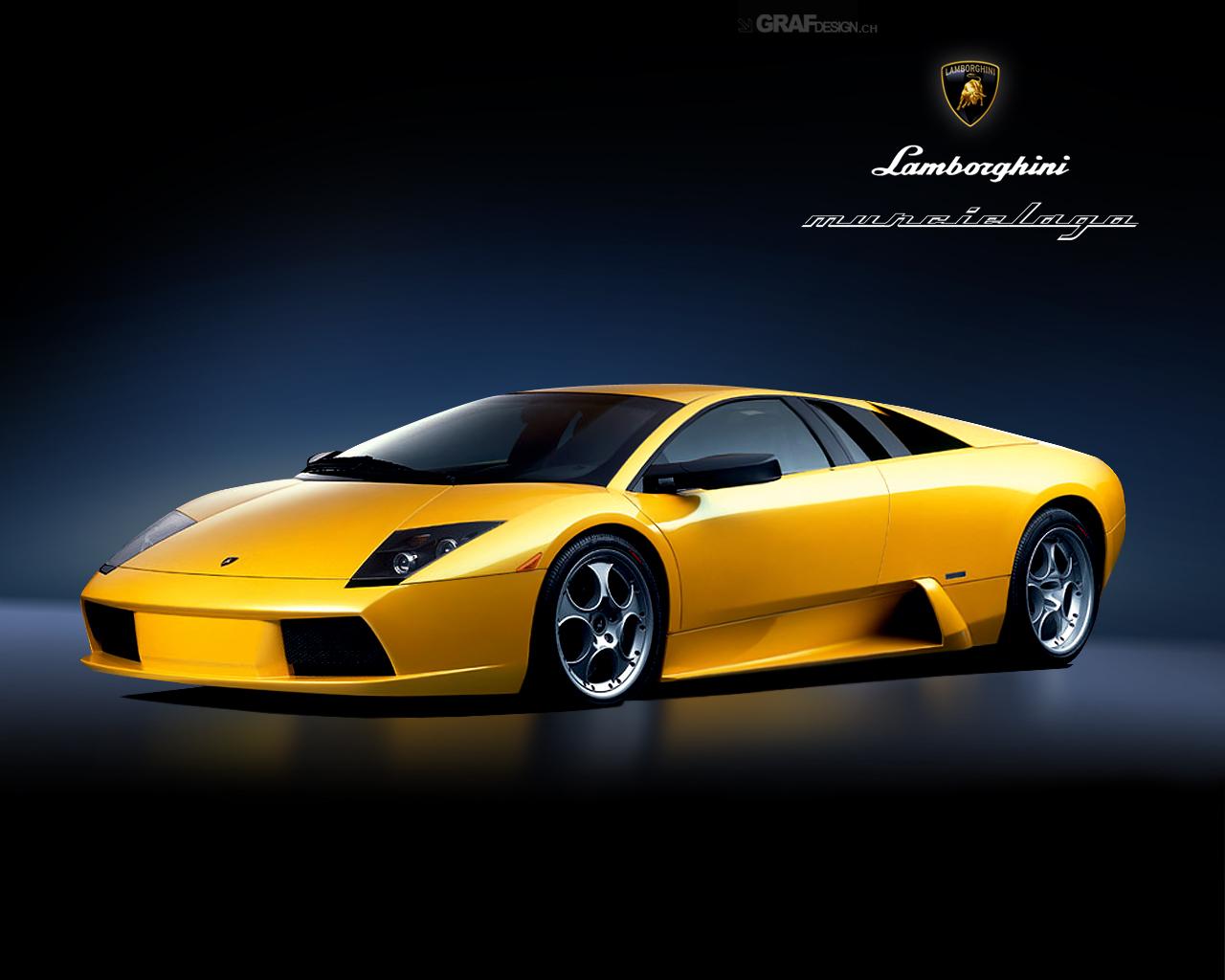 Yellow Lamborghini Murchi Wallpaper Desktop 1280x1024