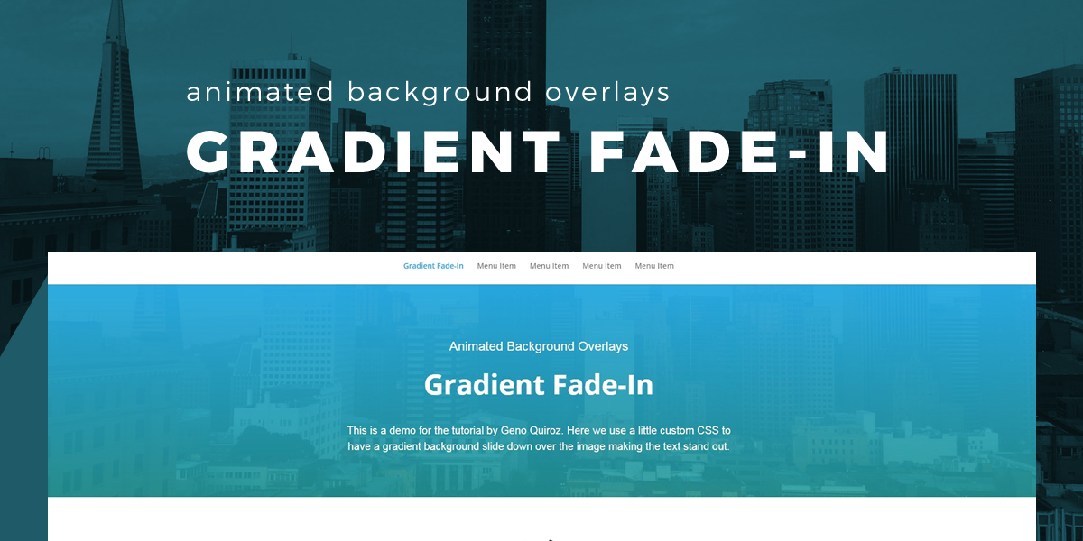 Animated Background Gradient Fade in Overlay 1200x600