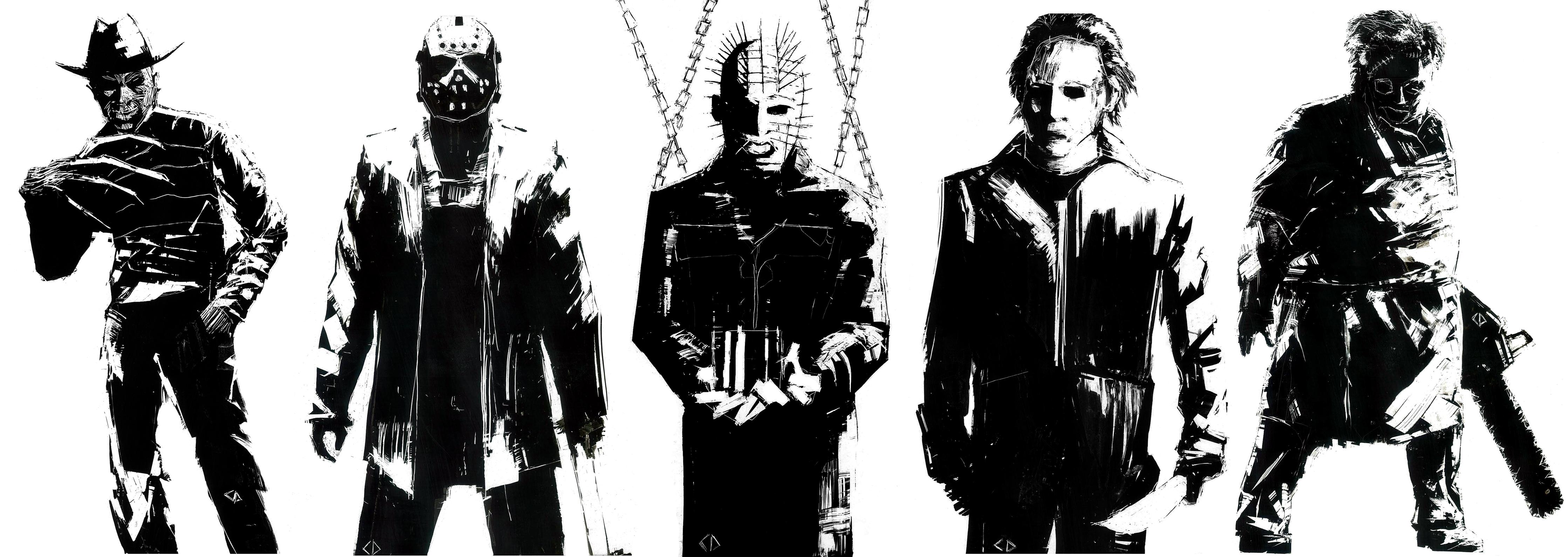 Horror Icons Film hellraiser horror 4475x1591