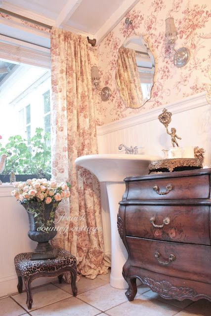 love the wallpaper and matching curtains For the Home Pinterest 427x640