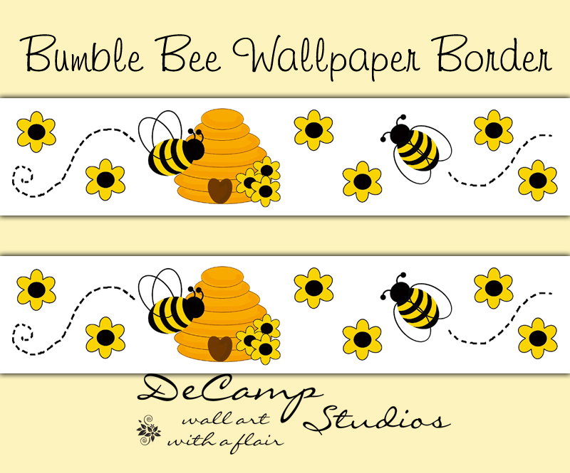 Bumble Honey Bee Hive Wallpaper Border Wall Decals Bug Decor [88] 800x665