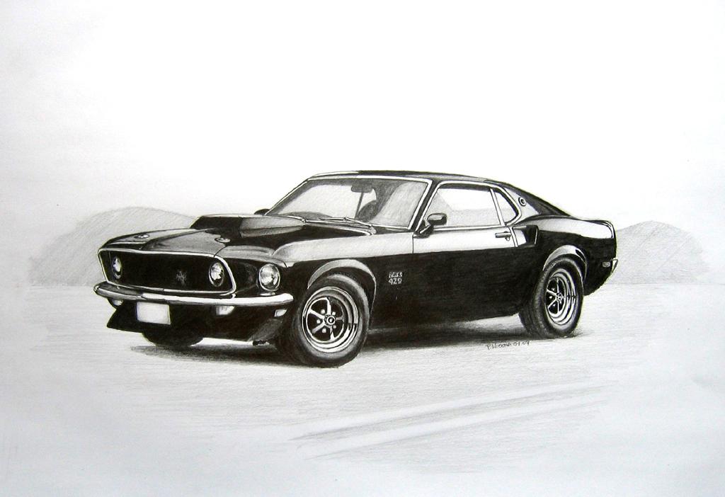 Ford Mustang 69 Boss 429 by bobekoniz 1024x702