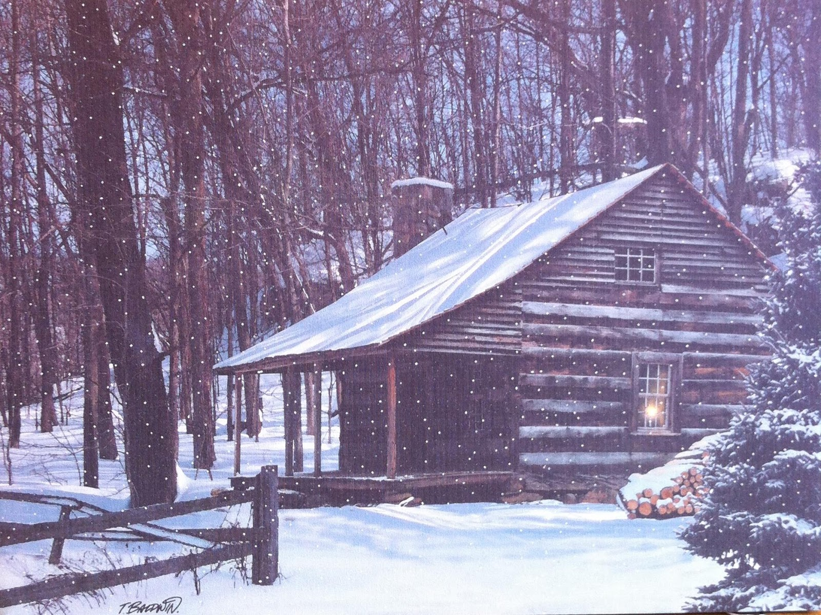 Winter log cabin wallpaper wallpapersafari
