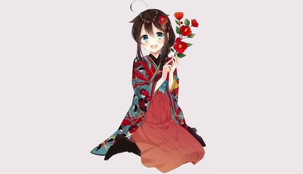Cute anime girl shigure kancolle wallpaper Kantai Collection 1024x589