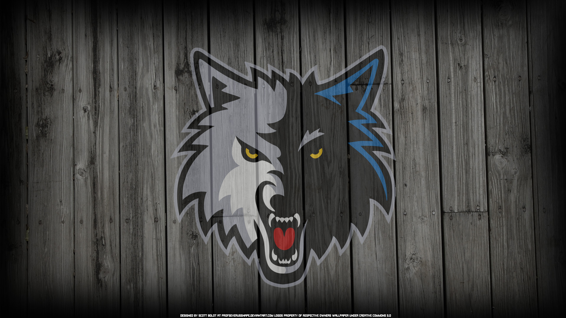 Minnesota Timberwolves Logo on Wood Background by ProfSeverusSnape 1920x1080