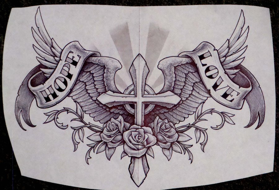cross with wings wallpaper wallpapersafari