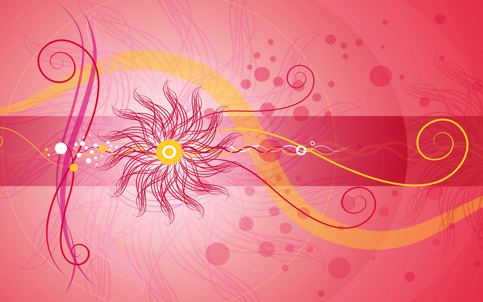 Red girly twirls   Cool Twitter Backgrounds 1920x1200