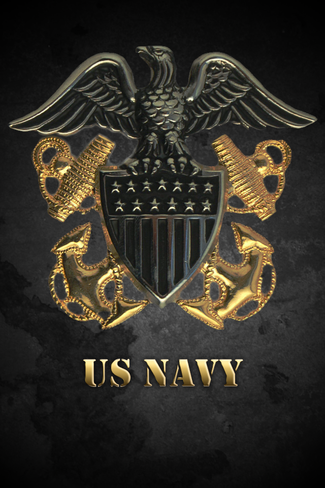 Navy Logo Wallpaper Iphone Iphone navy wallpaper by 640x960