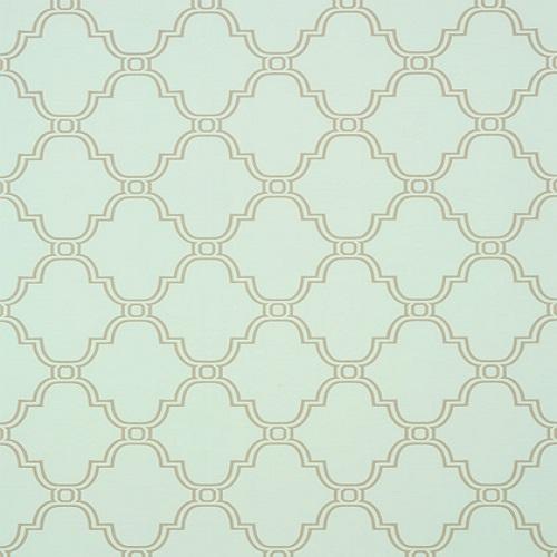 Thibaut Wallpaper Graphic Resource Stanbury Trellis T35120 Aqua 500x500