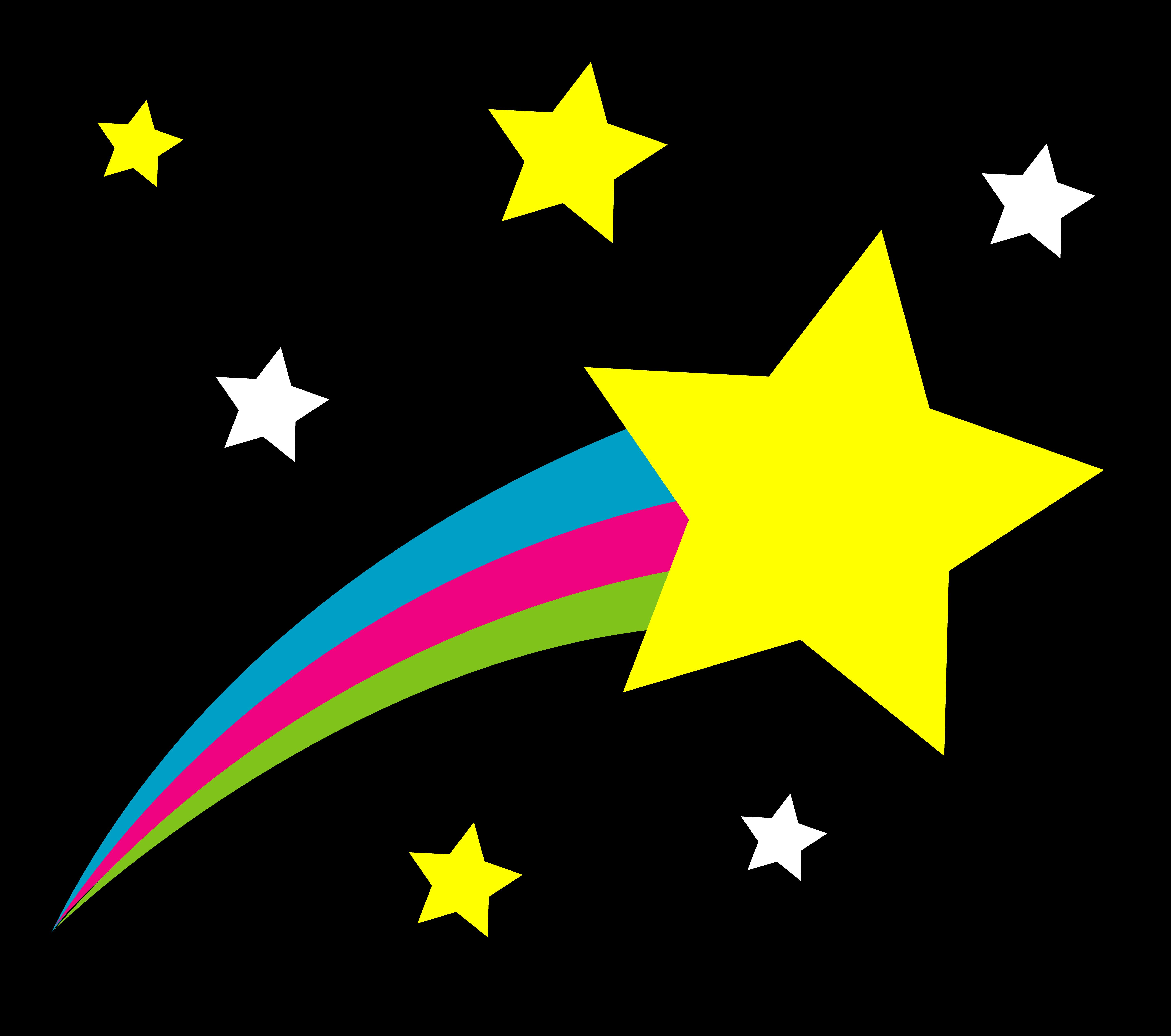 Shooting Star on Night Sky 5752x5089