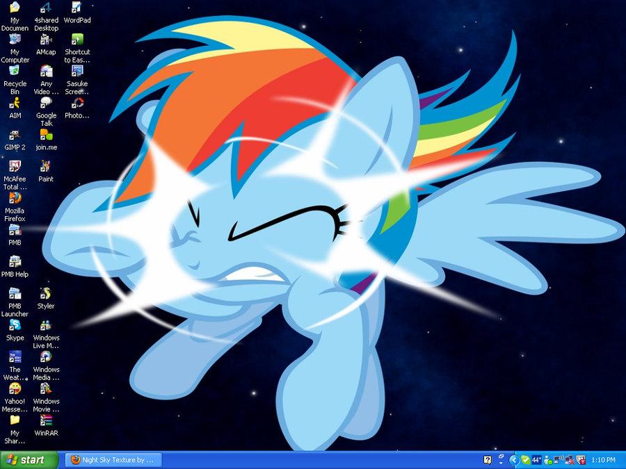 Rainbow Dash Crashes Into My Screen by Levi Ackerman Heicho on 900x675