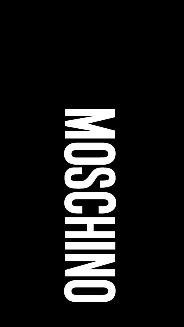 Moschino black iphone55s wallpaper Iphone5 iphone5s wallpapers 640x1136