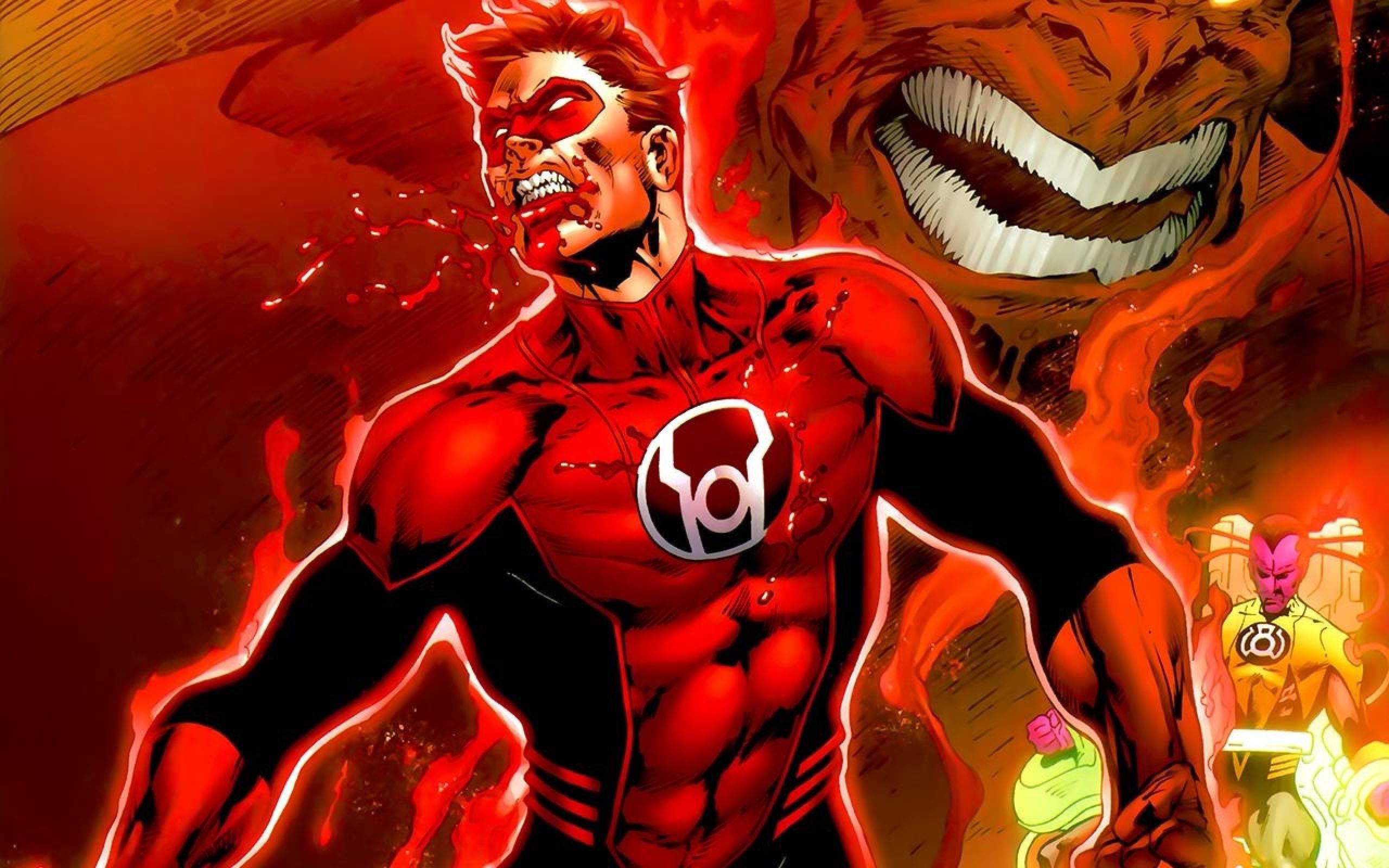 lantern comics red lantern corps 1280x800 wallpaper Art HD Wallpaper 2560x1600