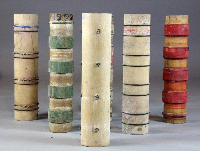 42 6 Antique Victorian Wooden Wallpaper Rollers 650x490