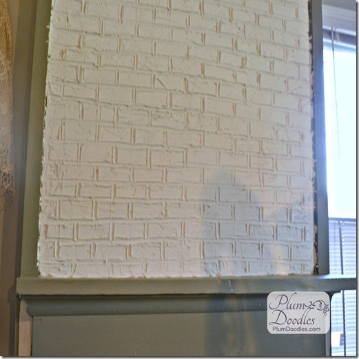 Raised Wall Art Trees PlumDoodles Faux Bricks Using Drywall Mud 521x521