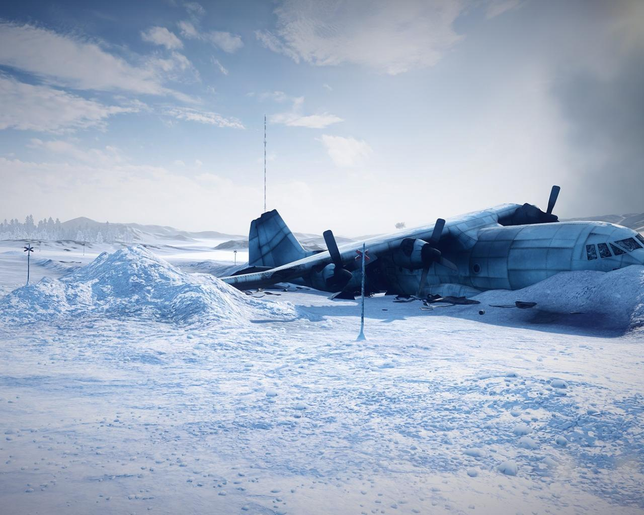 Aircraft aviation plane crash snow wallpaper 60462 1280x1024
