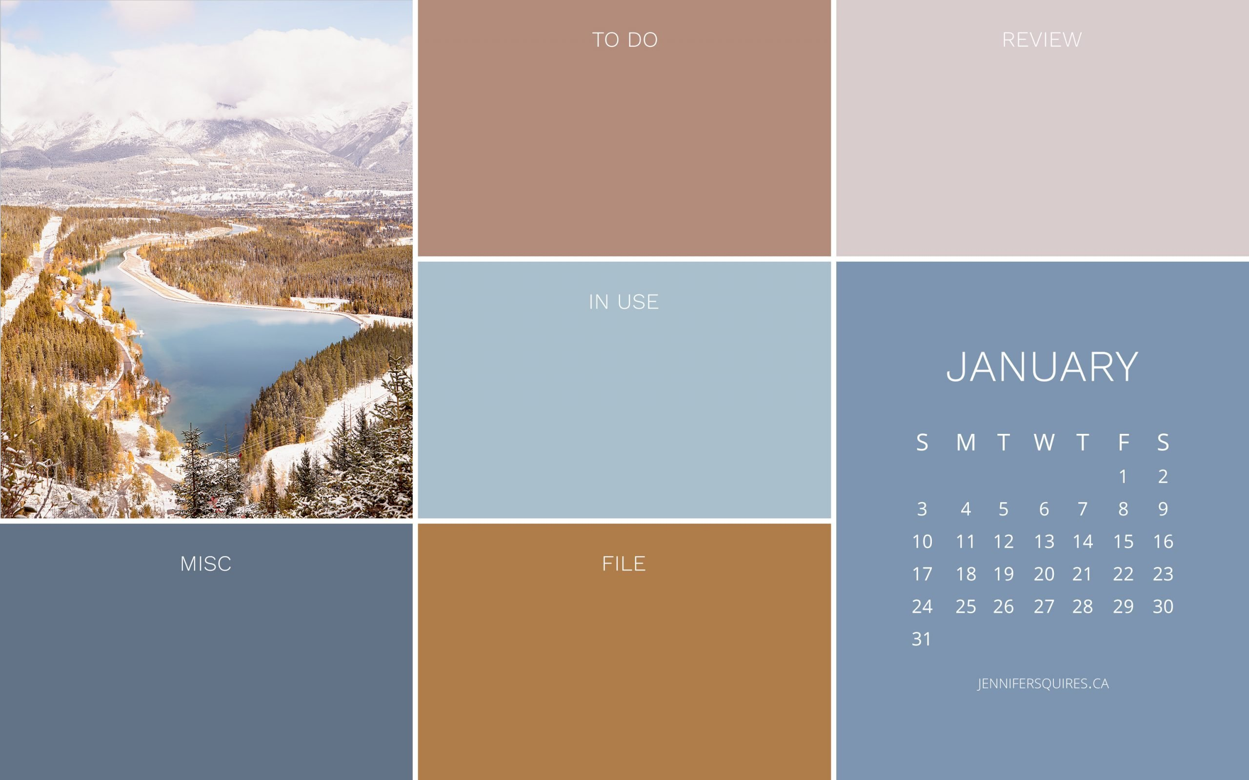 January 2021 Wallpaper with Calendar for iPhone and Desktop 2560x1600