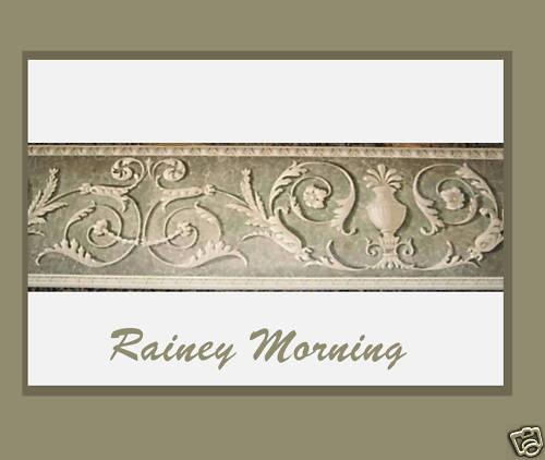 egyptian wallpaper border Olive Green Beige Old World Scroll 500x422
