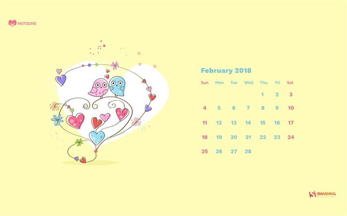 February 2018 Calendars Desktop HD Wallpaper Album List 700x437