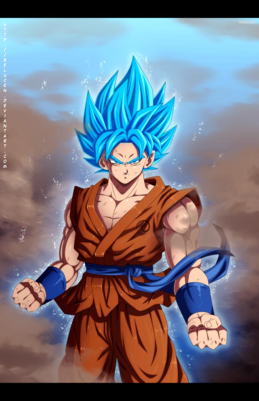 47 Wallpapers Goku Super Saiyan God On Wallpapersafari