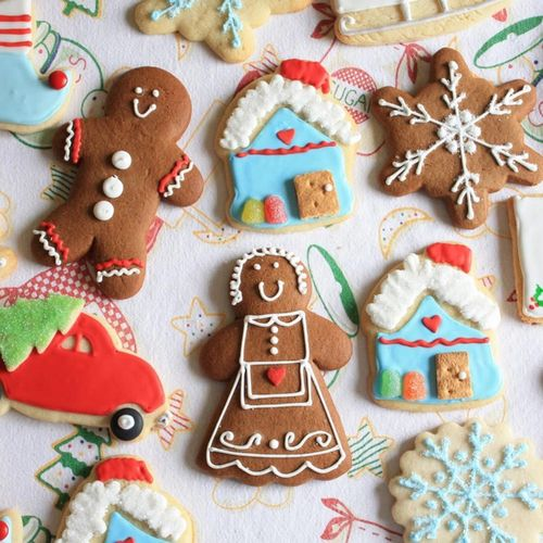 Cute Assorted Holiday Christmas Cookies Wallpaper Screensaver For 500x500