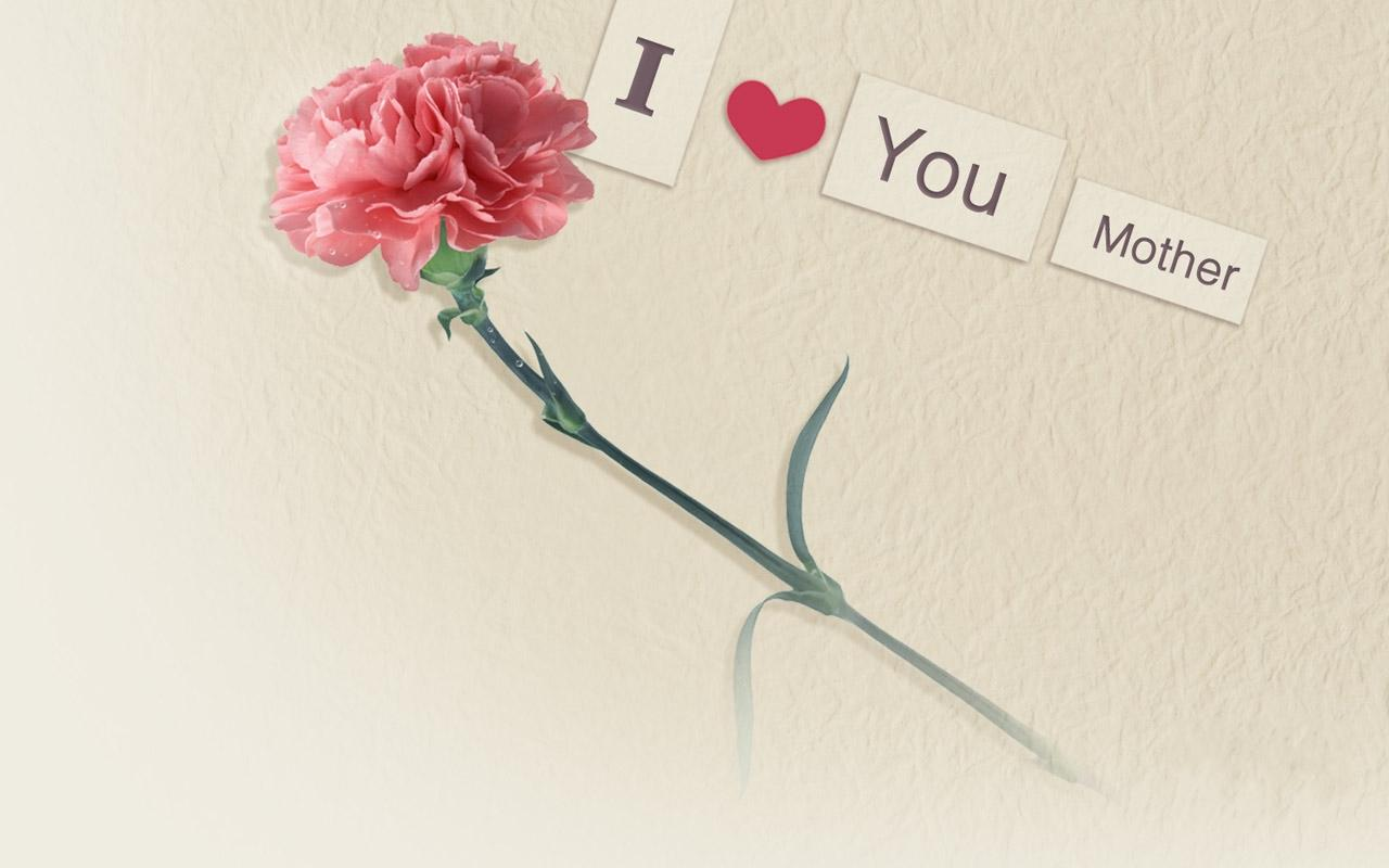 download i love you mother rose for mother day wallpapers for desktop 1280x800