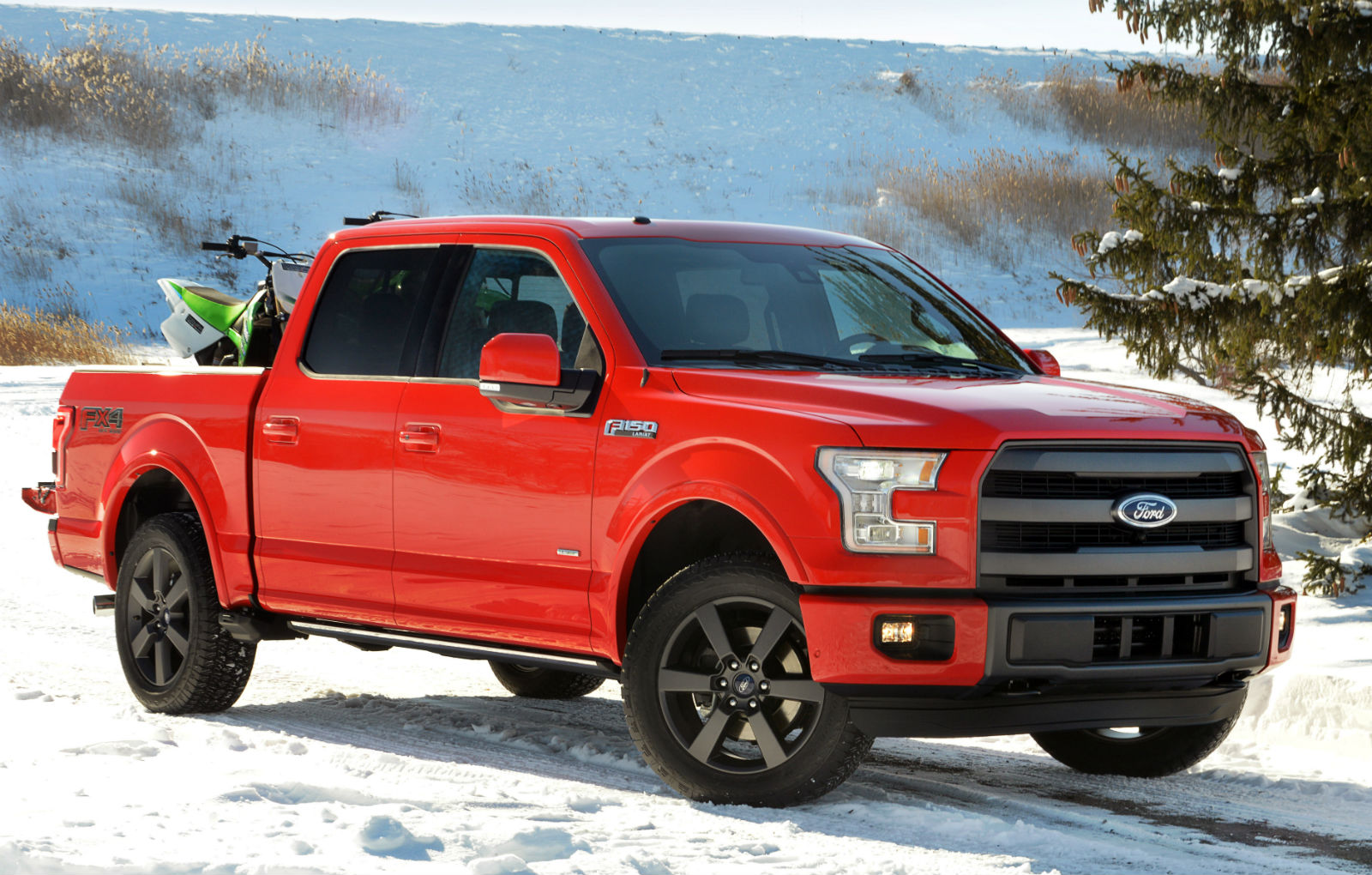 2015 Ford F 150 Red Pickup Truck Wallpaper   HD 1600x1020