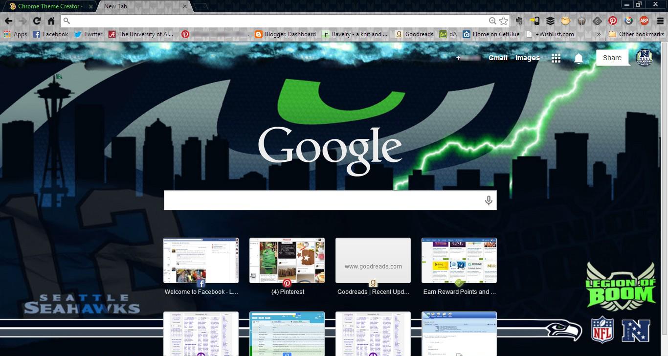 Free download Seahawks 2013 Google Chrome Theme by PyroDark