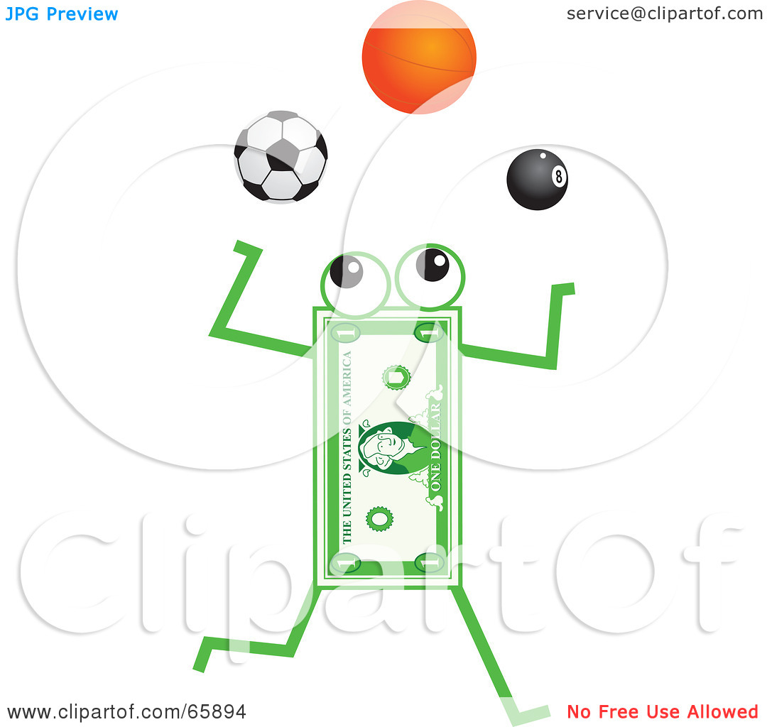 comBanknote Character Juggling Soccer Basketball And Pool Balls By 1080x1024